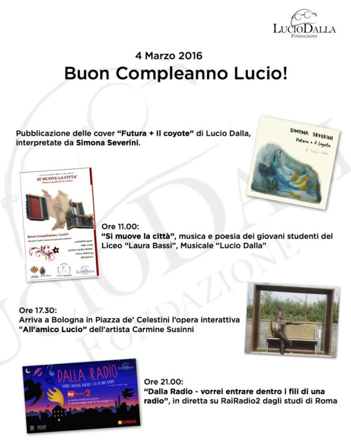 4 Marzo 2016 – Buon compleanno Lucio!